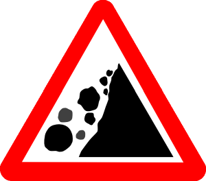 Falling Rocks Warning Sign